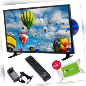 Camping TV Xoro HTC 2448 24 Zoll LED DVD Laufwerk USB PVR SAT DVB-T2 12V u 230V