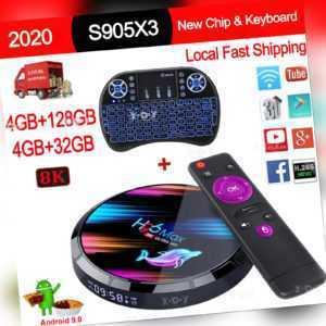 H96 MAX X3 4+128G 8K Android 9.0 5G WLAN BT TV BOX Keyboard Amlogic UHD Media