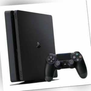 Ps4 Sony PlayStation 4 Slim 500 GB Schwarz Spiele - Konsole mit Controller