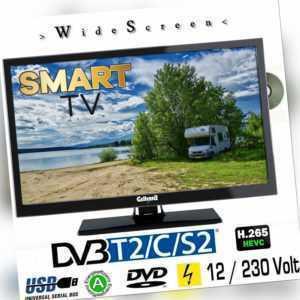 Smart TV 24 Zoll DVB/S/S2/T2/C, DVD, USB, 12V 230 Volt WLAN ARC