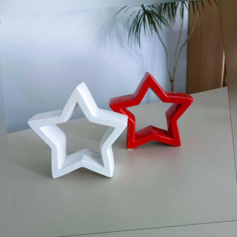 Shacamo Weihnachtsdeko aus Keramik, verschiedene Designs im 2er oder 3er Set
