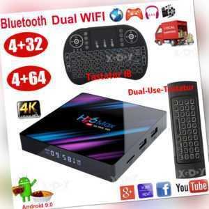 4+64G H96MAX 9.0 4K Smart Android TV BOX Tastatur TV BOX RK3318 Media Streamer