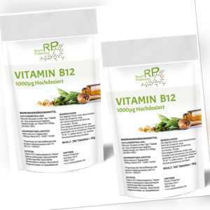 280 - 540 Tabletten VITAMIN B12 - 1000 µg Methylcobalamin | Hochdosiert | VEGAN