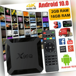 2+16GB X96Q Android 10.0 TV-Box H313 Quad-Core 4K 2.4G WiFi Media Player HDMI2.0