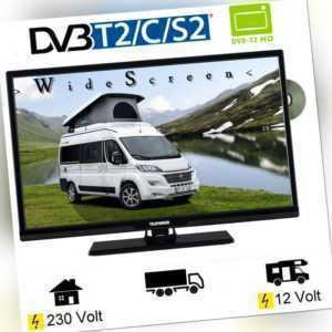 Telefunken T24X740 MOBIL DVD LED TV 24 Zoll DVB-S/S2/T2/C  12 Volt 230V Womo