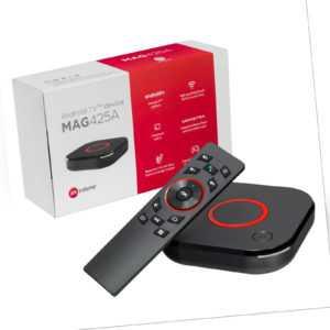 MAG 425A Android TV 8.0 IPTV Infomir Box Internet HEVC 4K UHD h.265 Ministra USB