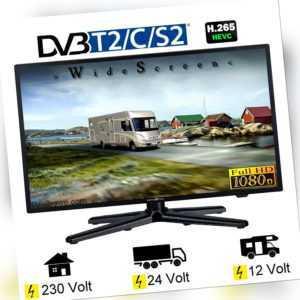 Reflexion LEDW24N TV 24 Zoll 60cm DVB-S2/C/T2 12V 24V 230V Wohnmobil Camping