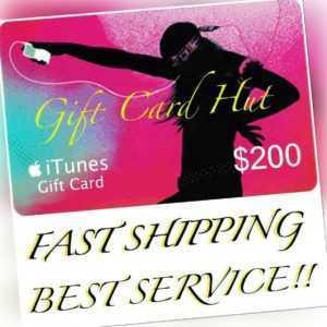Apple $200 iTunes US Gift Card Karte Voucher Certificate USA USD 100% Genuine
