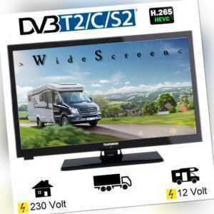Telefunken L24H274 LED TV 24 Zoll Tripletuner DVB-C/T2/S2 12 Volt 230V Wohnmobil