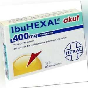 IBUHEXAL akut 400mg Ibuprofen Filmtabletten 20St bei Schmerzen PZN: 0068972