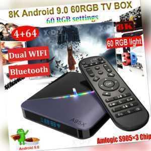 8K A95X F3 4+64G Android 9.0 TV BOX 5G WLAN BT 60RGB Amlogic Film Media Streamer