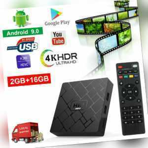 NEW 2+16G Android 9.0 RK3229 Quad Core Smart TV BOX WIFI 4K Media Movies DHL