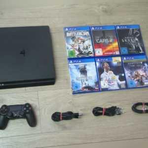 Sony PS4 Slim Konsole 500GB + Original Controller + Gratis Spiel - Playstation 4
