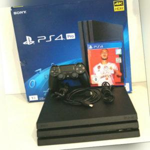 Sony PlayStation 4 Pro (CUH-7216B) Konsole - Schwarz + FIFA 20  ***TOP***