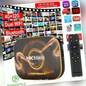 HK1 R1 4K Android 10.0 4+32G Quad Core Smart TV BOX 5G WIFI BT Media MINI PC DHL