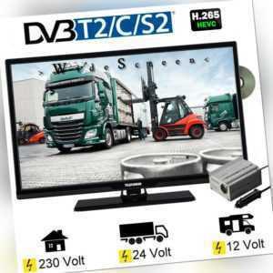 Telefunken T24X740 MOBIL DVD TV 24 Zoll DVB/S/S2/T2/C DVD 12V 230V LKW 24 Volt