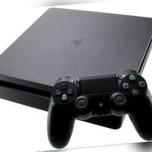 Sony PlayStation 4 Slim 500GB inkl FIFA 20 Spielekonsole schwarz - Sehr gut