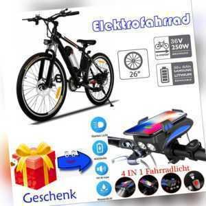 26 Zoll E-BIKE Elektrofahrrad Mountainbike Ebike Shimano Pedelec City Bike 2020