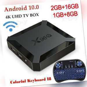 X96Q Android 10.0 OS 2+16G Tastatur Smart TV BOX 4K HD Film 2.4G WIFI Allwinner
