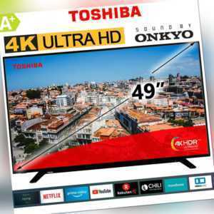 "Toshiba 49"" Zoll Fernseher Smart TV UHD 4K Ultra HD NETFLIX Prime HDR 123 cm NEU"