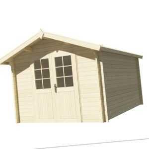 Top-Angebot! Gartenhaus Blockhaus 34 mm, Holzhaus, 3x4 m, Schuppen 300 x 400 cm