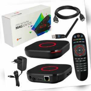 MAG 324  Infomir IP TV Box HEVC 265 multimedia streamer player + wifi stick wlan