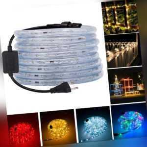 LED Lichtschlauch Lichterschlauch Lichterkette IP65 Innen/Aussen Garten 1m-15m