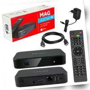 MAG 420W1 IPTV HEVC H.265 4K HDMI WiFi WLAN UHD 60FPS Linux USB LAN Internet TV