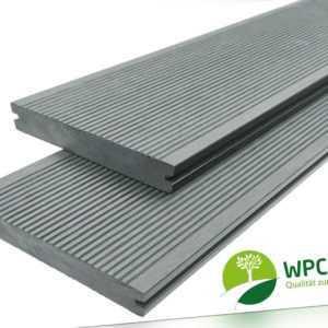 WPC Terrassendielen Massiv Handmuster Muster 20 mm x 15 cm steingrau Premium