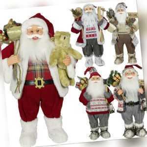 Weihnachtsmann Figur Groß 45cm 60cm & 80cm Nikolaus XXL Weihnachts Deko Santa