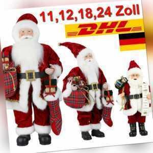 Weihnachtsmann Nikolaus Figur Santa Laterne Claus Weihnachten Deko Dekoration DE