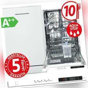 Geschirrspüler Spülmaschine 45cm A++ Einbau Spüler Aquastop vollintegrierbar NEU