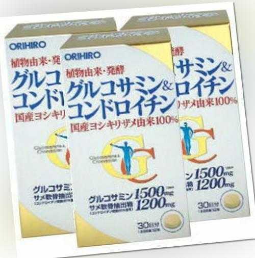 Orihiro Glukosamin & Chondroitin Anti-aging Ergänzung / 1080 Tabletten 90days