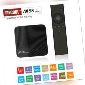 MECOOL Smart-TV-Box M8S PRO L ATV S912 Octa-Core 3GB+16GB BT 2,4G 4G WiFi B7G9