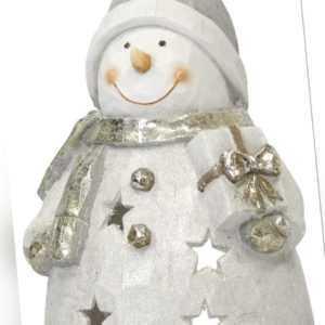 Deko Figur XL Schneemann - Dekofigur Weihnachtsfigur Christmas