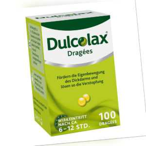 Dulcolax Dragées bei Verstopfung mit Bisacodyl 100stk PZN 08472968