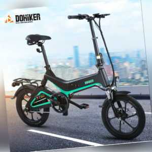 Dohiker 16''Elektrofahrrad zusammenklappbar Pendler E-Bike 7.5AH 250W 36V 25km/h