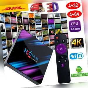 Android 10.0 5G H96MAX 4K 32G/64G Quad Core Smart TV Box Dual WIFI Media Player