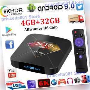 X10 Plus 6K UHD Android 9.0 4+32G Smart TV BOX 2.4G WLAN 3D Media Streamer DHL