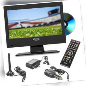 Camping Fernseher LCD TV mit DVD-Player Xoro PTC 1250 DVB T2 USB 12 V 230 Volt