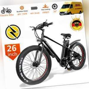 26 Zoll E-bike Elektrofahrrad Mountainbike E-MTB Shimano Pedelec 45km/h 750W DE