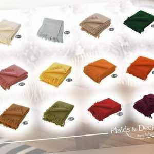 Flauschiges Schurwoll Wohn und Reiseplaid York einfarbig 130 x