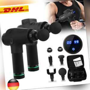 Electric Massage Gun Massagepistole Massager Muscle Massagegerät mit 4 Köpfe