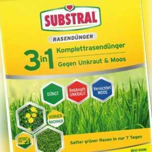 Substral 3in1 Komplett Rasendünger gegen Unkraut & Moos 3,6kg Unkrautvernichter