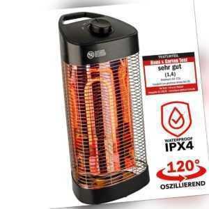 Infrarot Standheizstrahler Terassenstrahler Wärmestrahler 1200 W 120 Grad