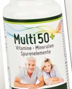 MULTI 50+ Vitamin & Mineralstoff-Komplex, 60 Kapseln - für Menschen ab 50 Jahren
