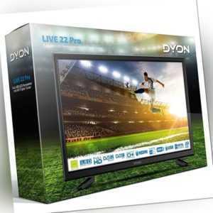 Dyon Live 22 Pro 22 Zoll Full HD Fernseher HDMI CI+ USB Triple Tuner