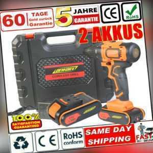21V Akku-Schlagbohrschrauber Bohrmaschine Akkuschrauber Bohrschrauber 2 Akkus !!