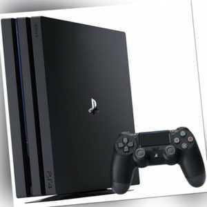 Sony Playstation 4 Pro 1TB PS4 schwarz + 1 Dualshock 4 Controller Spielekonsole