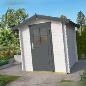 28 mm Gerätehaus 200x200 cm Gartenhaus Hütte Holzhaus Holz Geräteschuppen Haus